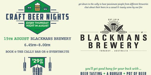 Craft Beer Night - Blackmans Brewery