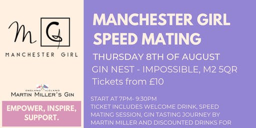 Manchester Girl Speed Mating with Gin Tasting