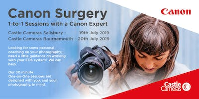 Canon 1-to-1 Surgery, Bournemouth - Come and ask a Canon expert anything!