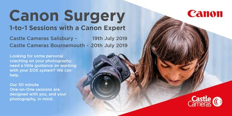 Canon 1-to-1 Surgery, Bournemouth - Come and ask a Canon expert anything! tickets