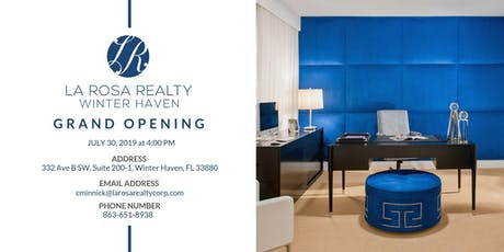 La Rosa Realty Winter Haven Office Grand Opening tickets