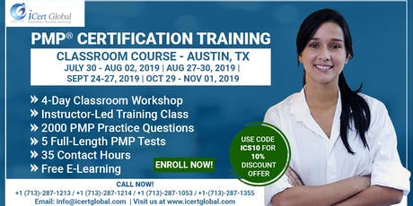 PMP® Certification Training In Austin, TX, USA | 4-Day (PMP) Boot Camp tickets