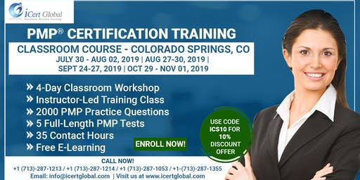 PMP® Certification Training In Colorado Springs, CO, USA | 4-Day (PMP) Boot Camp