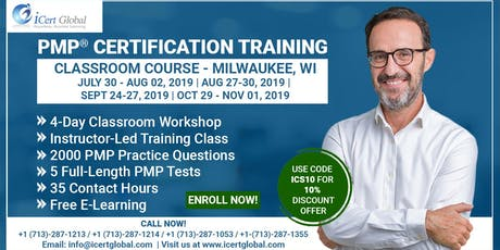 PMP® Certification Training In Milwaukee, WI, USA | 4-Day (PMP) Boot Camp tickets