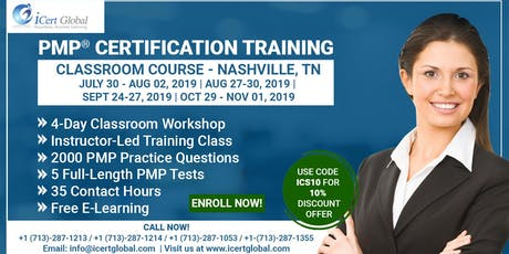 PMP® Certification Training In Nashville, TN, USA | 4-Day (PMP) Boot Camp tickets