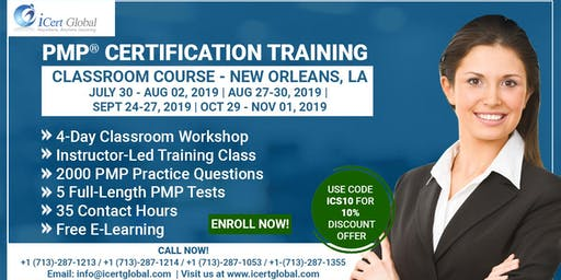 PMP® Certification Training In New Orleans, LA, USA | 4-Day (PMP) Boot Camp