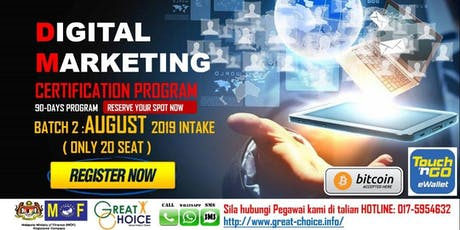 Mastering in Digital Marketing (3 months hands-on practical program) tickets