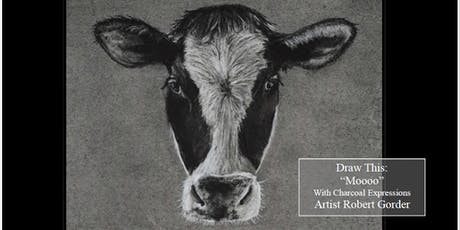 """Charcoal Drawing Event """"Moooo"""" in Stevens Point tickets"""