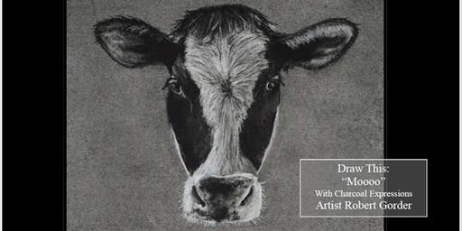 """Charcoal Drawing Event """"Moooo"""" in Stevens Point"""