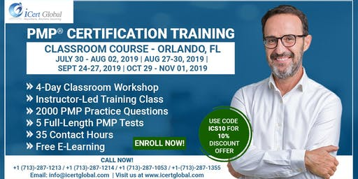 PMP® Certification Training In Orlando, FL, USA | 4-Day (PMP) Boot Camp