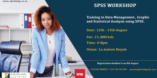 Data Management, Graphics and Statistical Analysis using SPSS Workshop