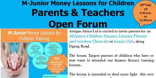 M-Junior Parents & Teachers Open Forum