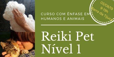 Curso Reiki Pet Nível 1- O Despertar. Abordagem para uso em pessoas e animais. ingressos
