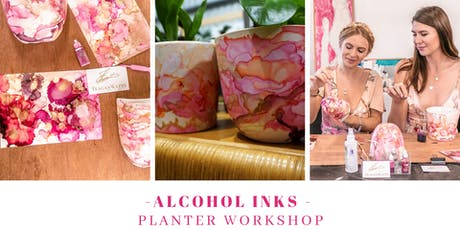 5 SPOTS LEFT - Alcohol Inks planter workshop  tickets