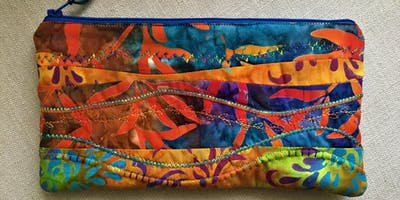 Make a quilted and lined zipped pouch in an afternoon