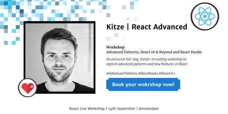 Advanced React Workshop by Kitze - React Live Conference tickets