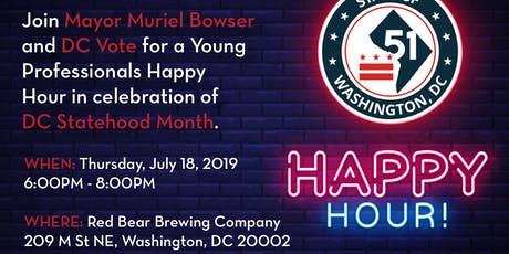 DC Statehood Month Happy Hour tickets