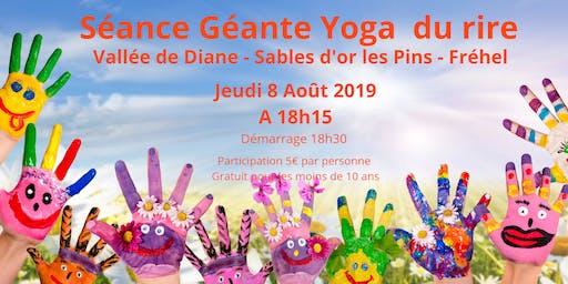 Séance Géante Yoga du Rire - Vallée de Diane - Sables d'or les Pins