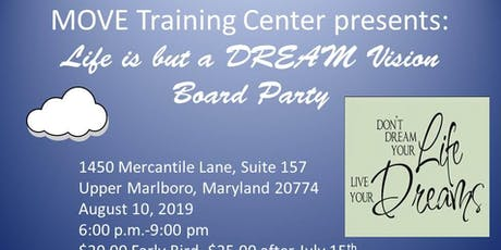 Life is but a DREAM Vision Board Party tickets