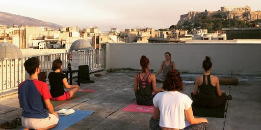 Full Moon Yoga At The Cube Rooftop with Elena