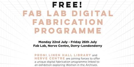 Fab Lab Digital Fabrication programme tickets
