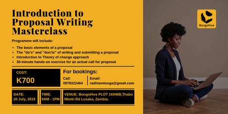 Proposal Writing Masterclass tickets