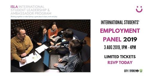 International Students' Employment Panel 2019