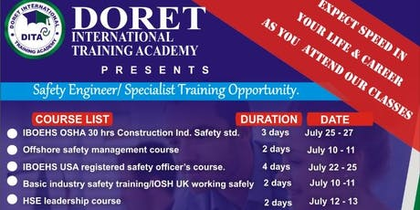 Safety Engineer/Safety Specialist Training Courses tickets