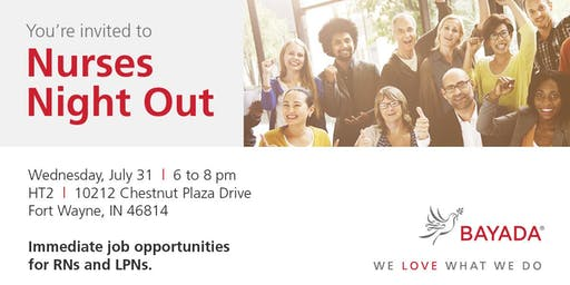 Join us for Nurses Night Out!