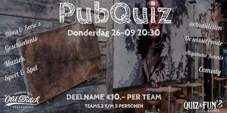 PubQuiz | Old Dutch | september tickets