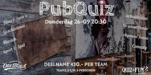 PubQuiz | Old Dutch | september