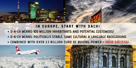 FREE Accelerate your business in Europe! (ONLINE seminar DACH Region intro) tickets