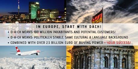 FREE Accelerate your business in Europe! (ONLINE seminar DACH Region intro) biglietti