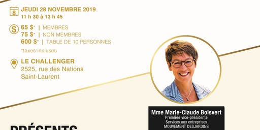 Lunch conférence Marie-Claude Boisvert - Desjardins