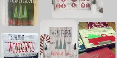 Holiday Signs and decor DIY