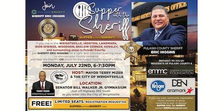 Supper with the Sheriff - WRIGHTSVILLE - July 22nd tickets