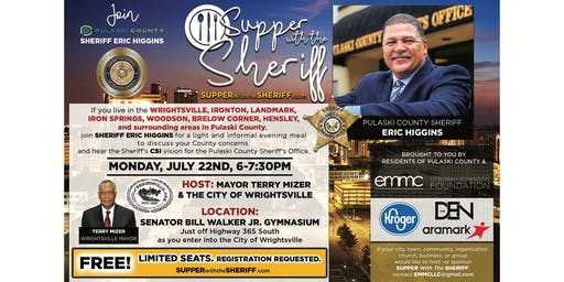 Supper with the Sheriff - WRIGHTSVILLE - July 22nd