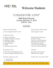 College for a Day tickets