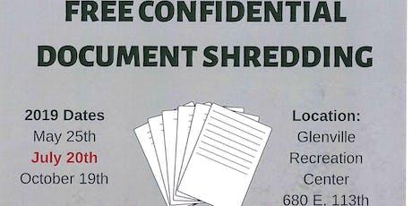 Free Confidential Document Shredding tickets