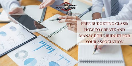FREE BUDGETING CLASS: CREATE & MANAGE THE BUDGET FOR YOUR ASSOCIATION tickets