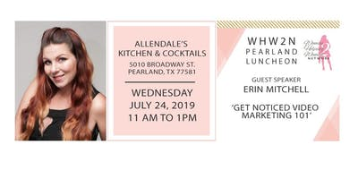 WHW2N Pearland lunch with Special Speaker Offer