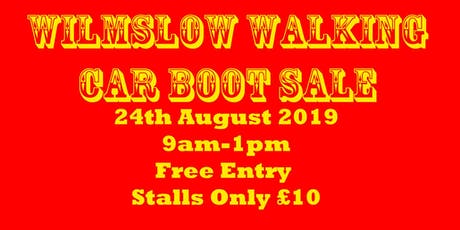 Wilmslow Walking Car Boot Sale tickets