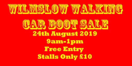 Wilmslow Walking Car Boot Sale