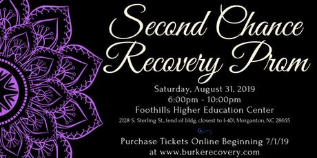 Burke Recovery's Second Chance Recovery Prom tickets