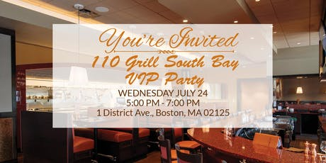 110 Grill Pre-Opening VIP Party tickets