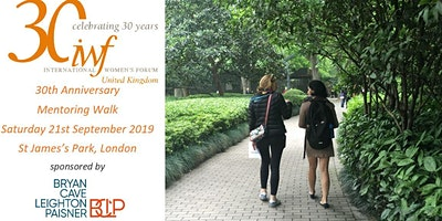 IWF UK 30th Anniversary Mentoring Walk