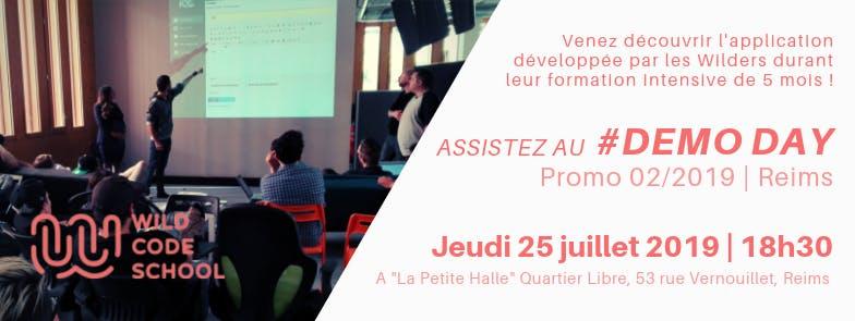WILD DEMO-DAY - Invitation présentation & Cocktail - Wild Code School Reims