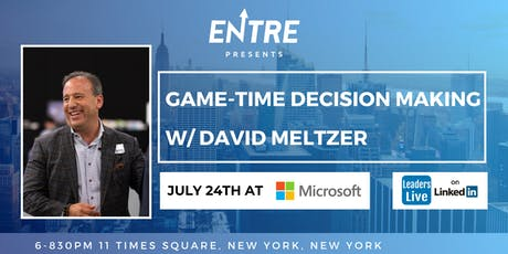 Game-Time Decision Making with David Meltzer tickets