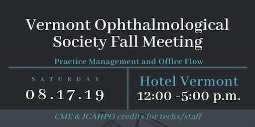 Vermont Ophthalmological Society Fall Meeting