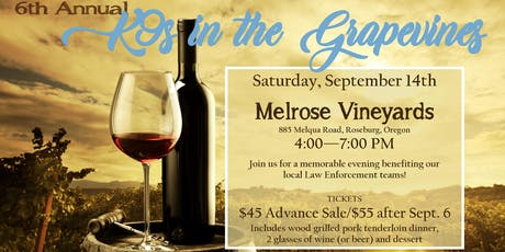 6th Annual K9s in the Grapevines tickets